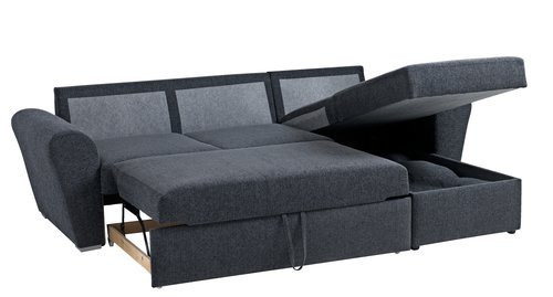 to personers sofa med chaiselong