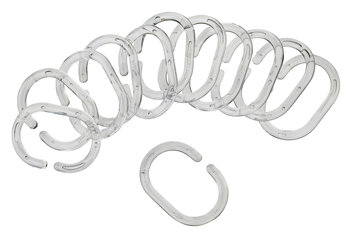 Shower curtain VARA rings plastic clear | JYSK