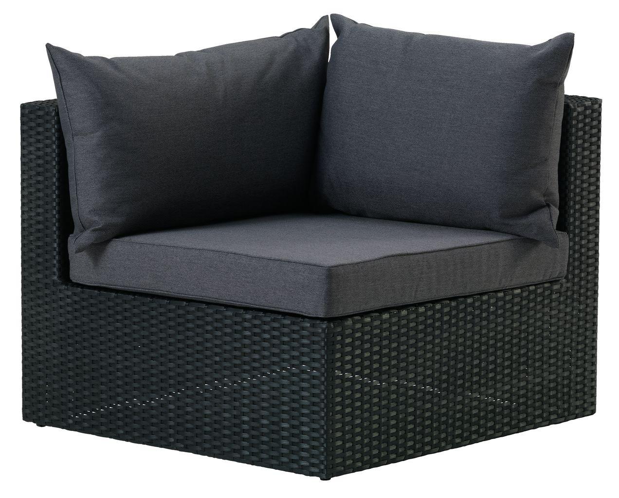 Luxe Loungeset Zwart.Loungeset Bastrup Hoekmodule Zwart