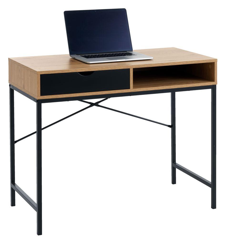 Skrivebord TRAPPEDAL 48x95 natursvart | JYSK