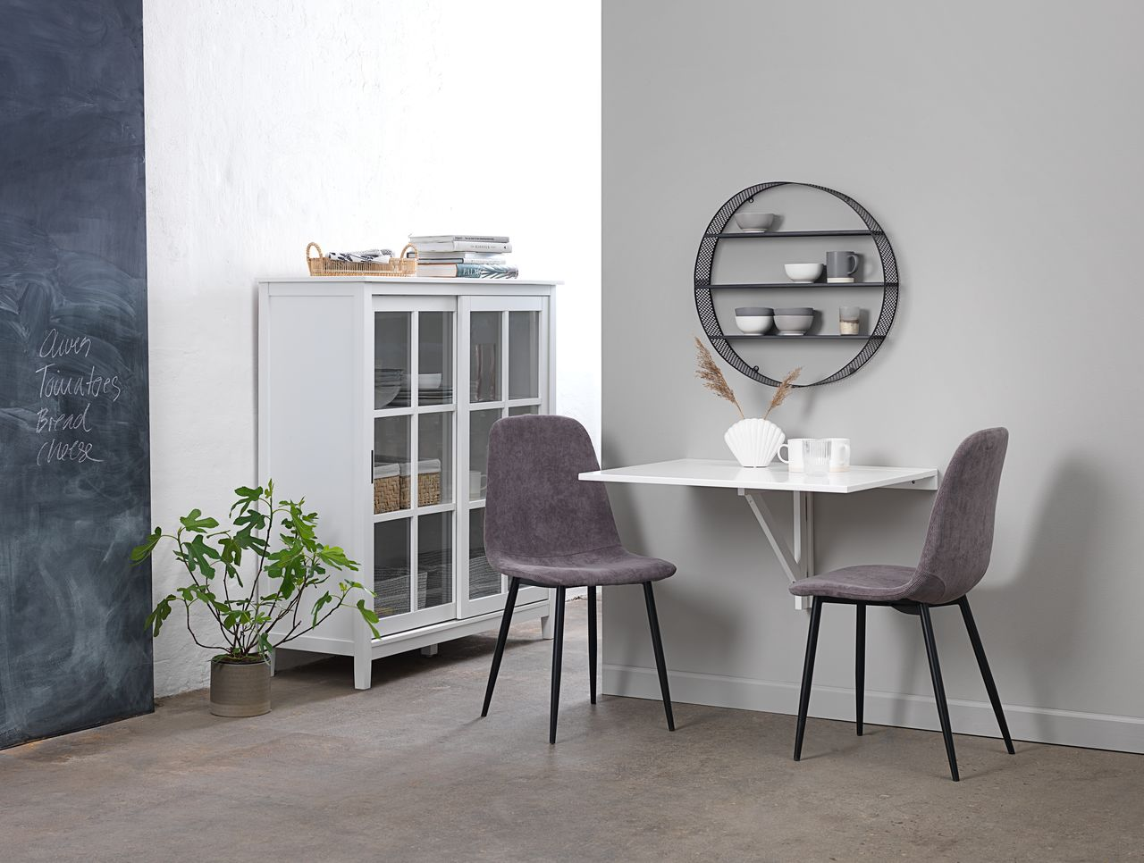Stol JONSTRUP kordfløyel grå | JYSK