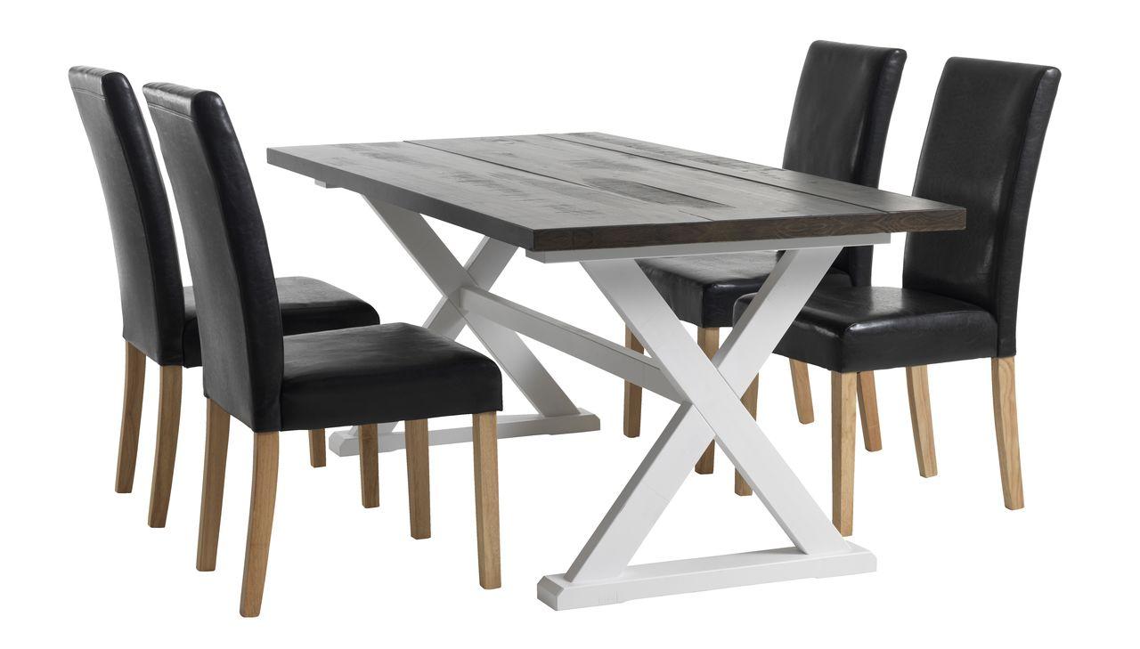 Spisebord KALUNDBORG 90x180 brunhvit | JYSK