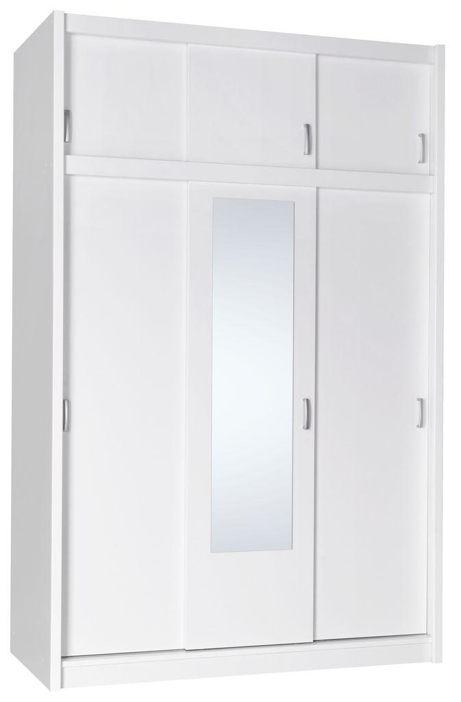 Wardrobe Gentofte 3 Doors White Jysk