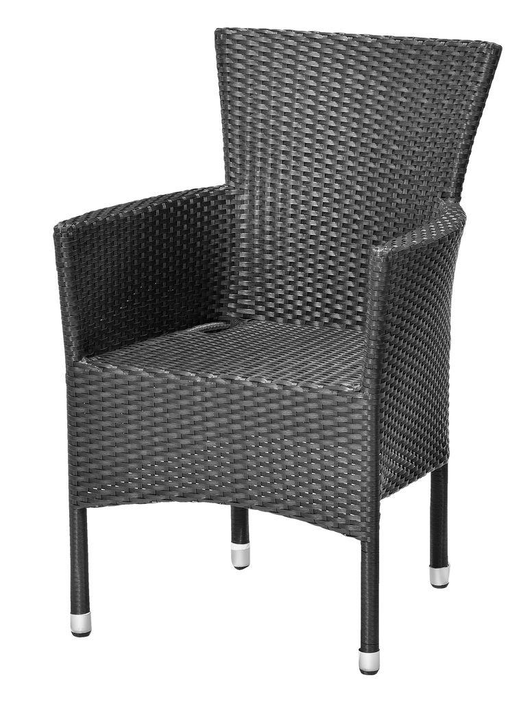stacking chair aidt black  jysk