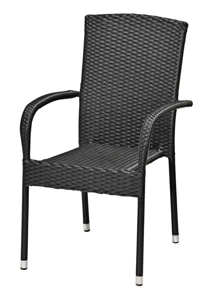 Stacking Chair Birkemose Black Jysk