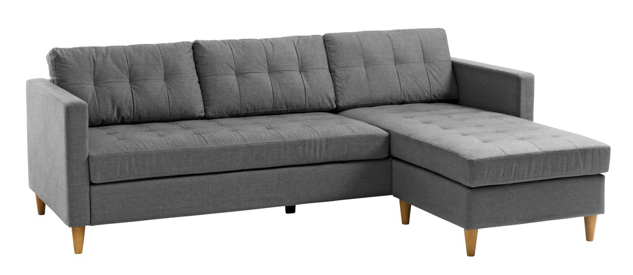 Hoekbank Chaise Lounge.Bank Falslev Chaise Longue Grijs Jysk