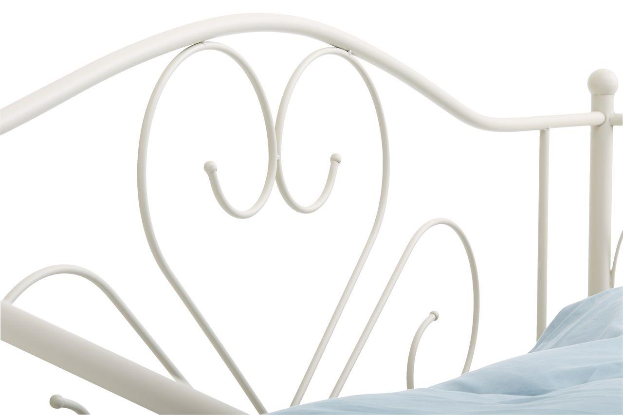 łóżko Ringe 90x200cm Kremowe