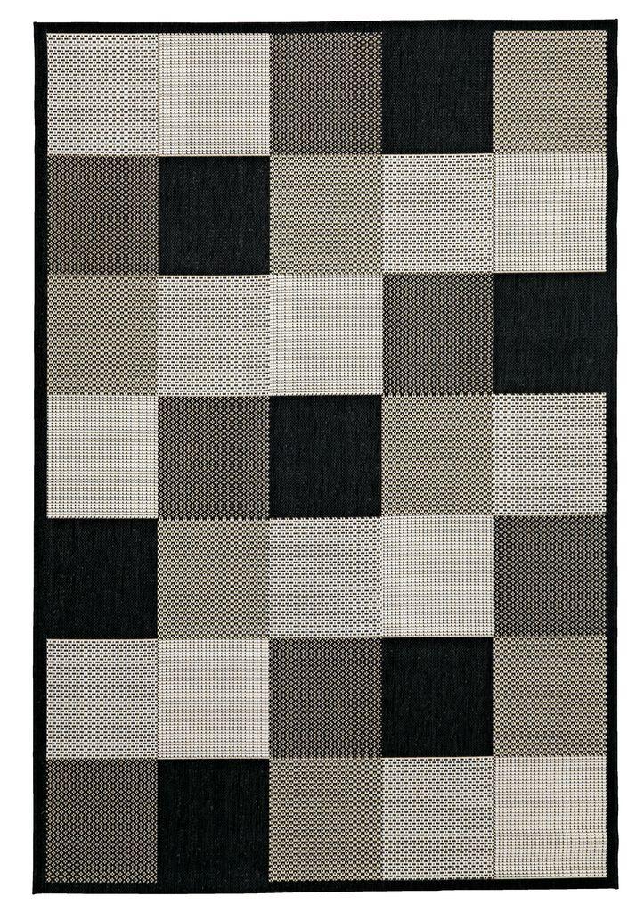 Rug RIPS 130x193 black/beige   JYSK