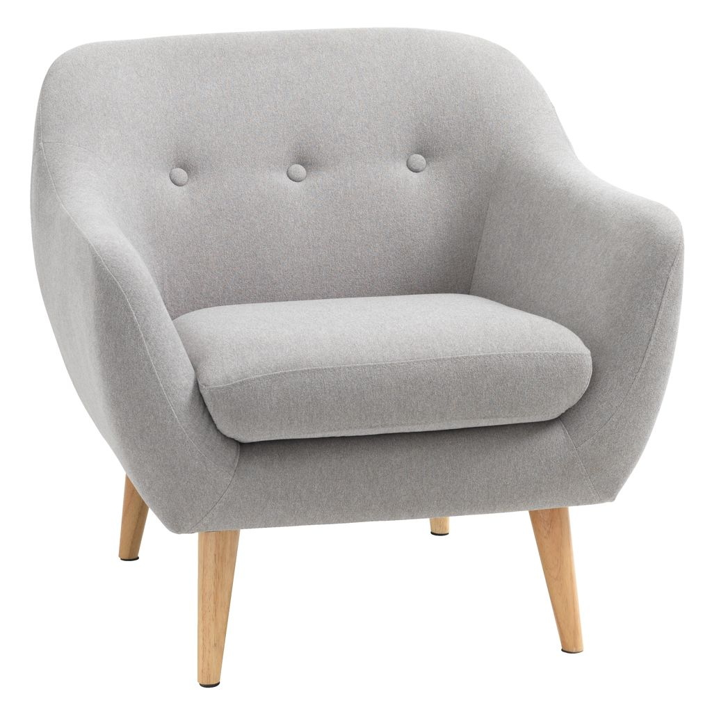 Light grey armchair - Armchair Egedal Light Grey