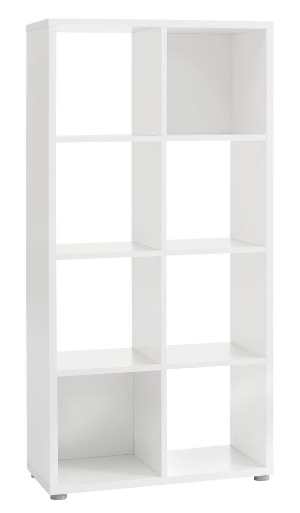 Roomdivider HALDAGER 8 schappen wit   JYSK
