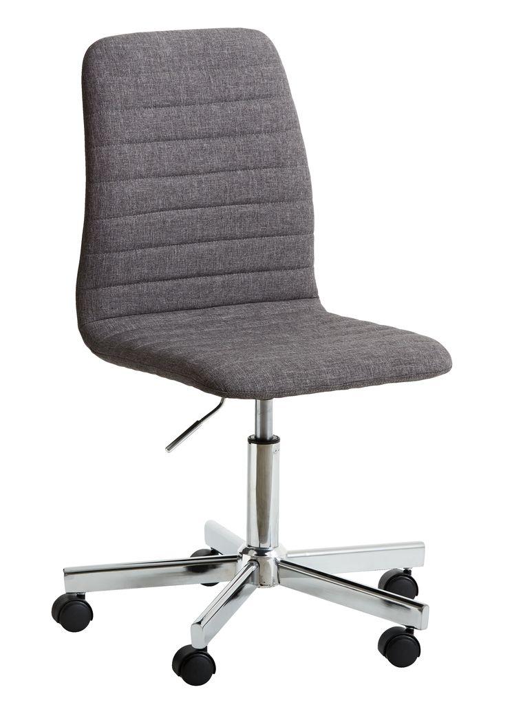 Office Chair Abildholt Dark Grey Chrome