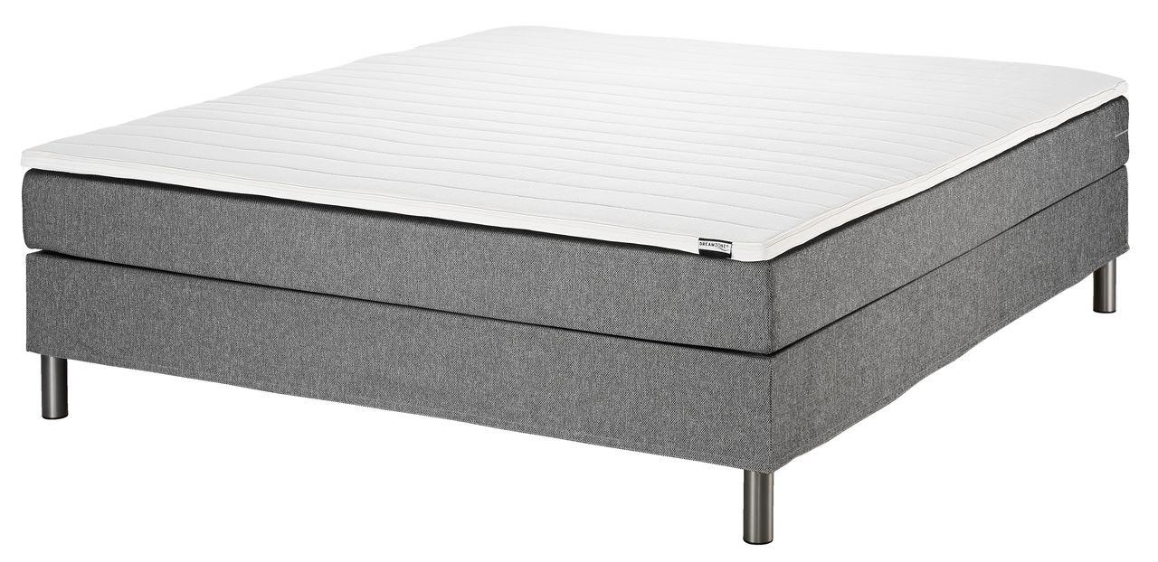 boxspring 160x200 basic c5 grijs jysk. Black Bedroom Furniture Sets. Home Design Ideas