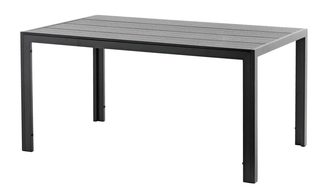 Table maderup 90x150 alu artwood black jysk for Table exterieur jysk
