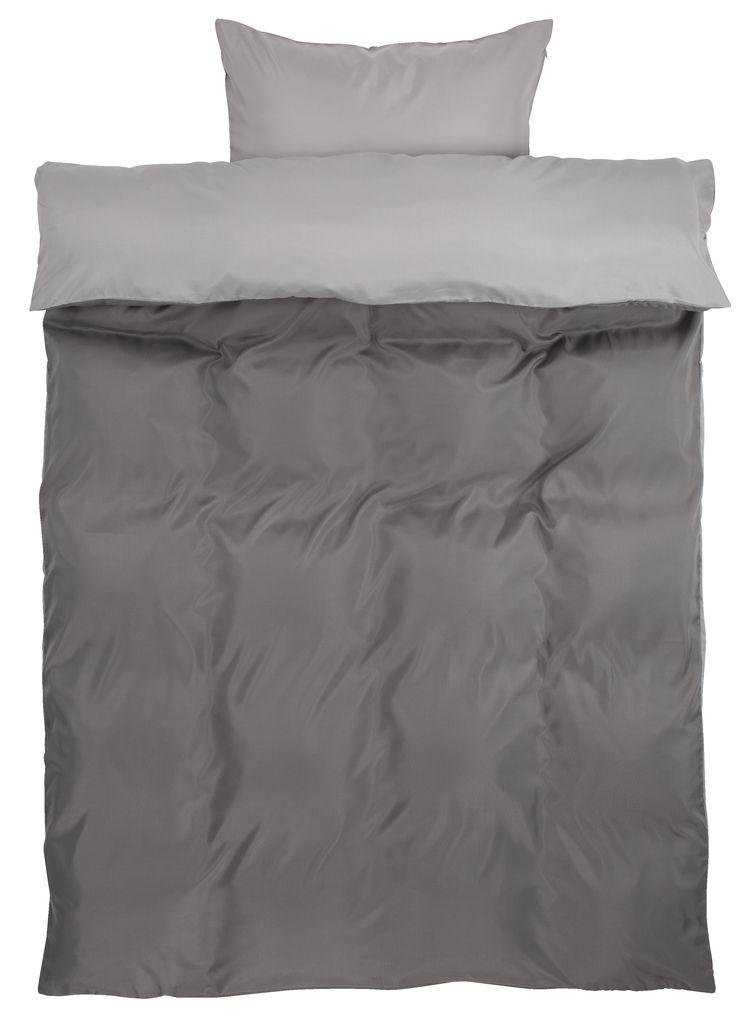 sengetøj med lynlås Sengesæt CATERINA mikro SGL grå | JYSK sengetøj med lynlås