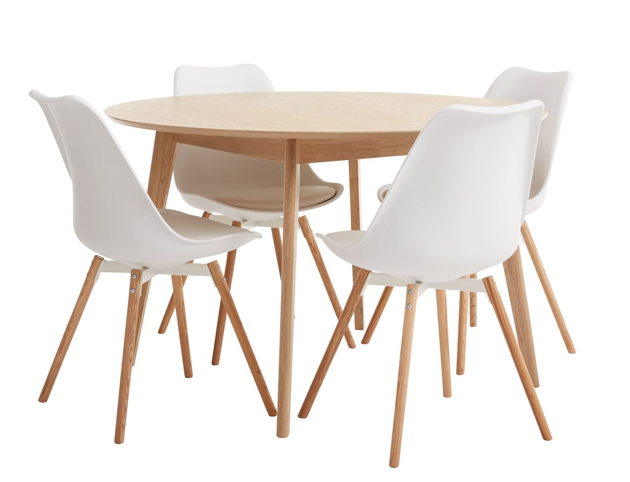 Spisebord KALBY Ø120 lys eik   JYSK