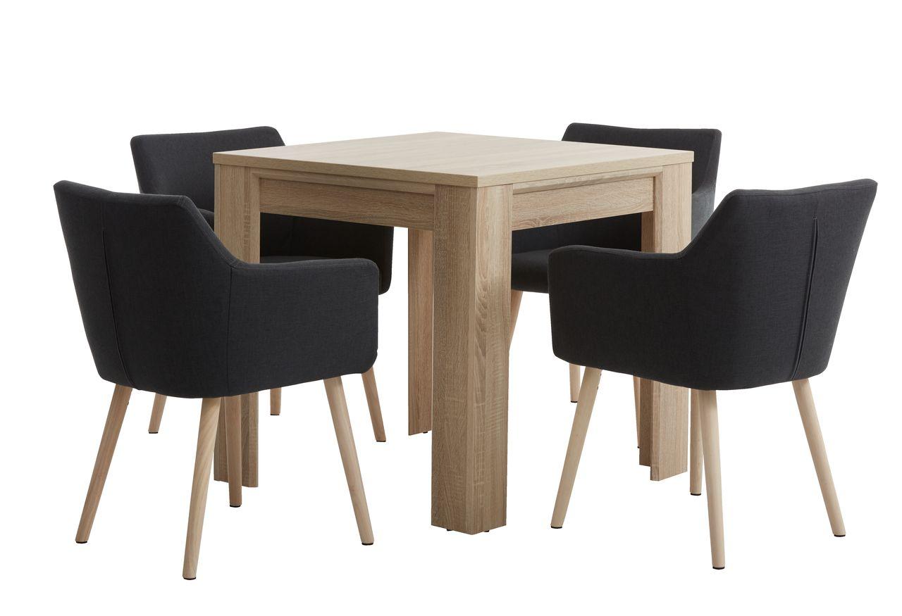 Eettafel met 4 stoelen excellent eettafel stoelen with for Ikea fusion tafel