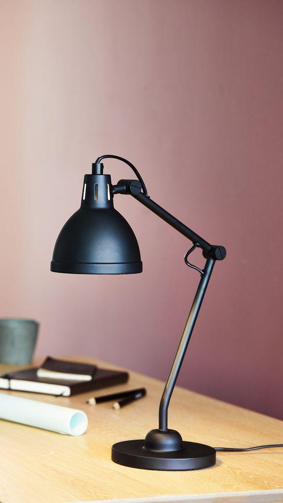 Berömda Bordslampa PATRIK Ø14xH45cm svart   JYSK XO-45