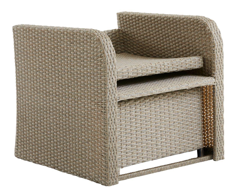 Krzesło z podnóżkiem EJLBY naturalne