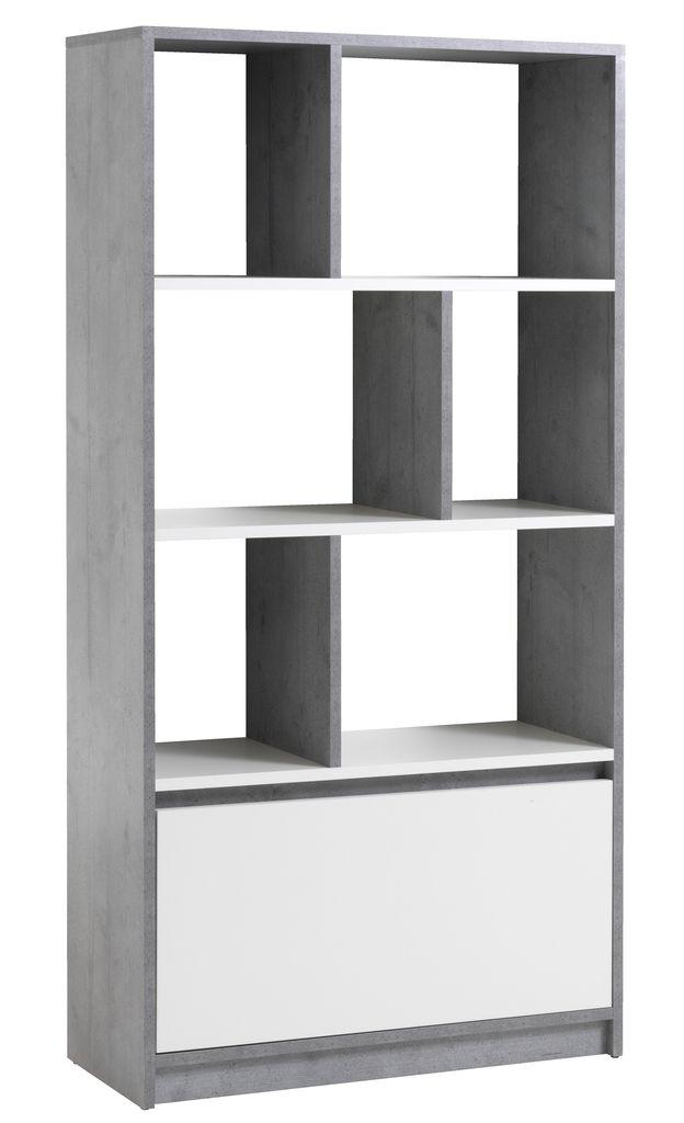 Boekenkast BILLUND wit/beton | JYSK
