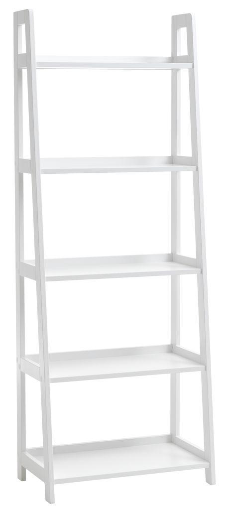 boekenkast herning 5 schappen wit