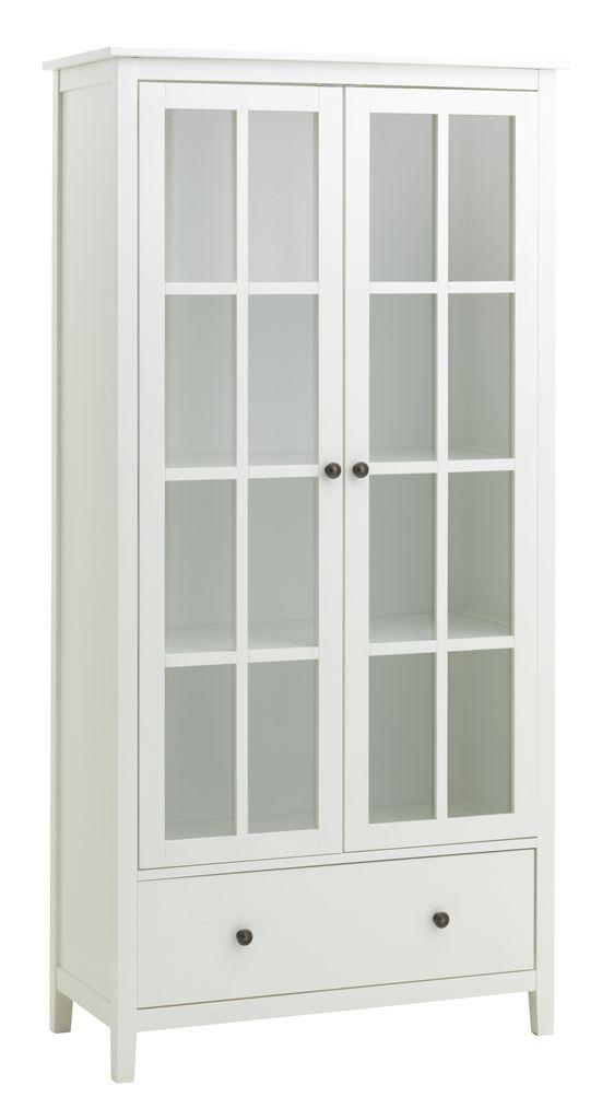 Display Cabinet Nordby 2 Door 1 Drw Wht Jysk