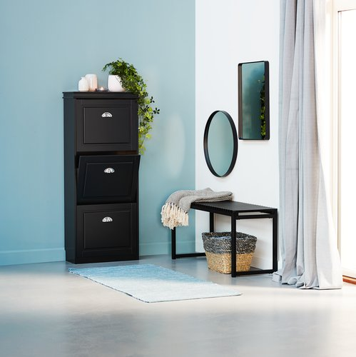 Shoe cabinet IDESTRUP 3 comp. black