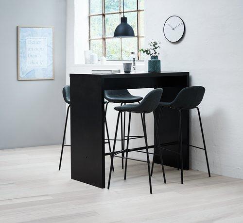 Бар стол ISENVAD сив/черен
