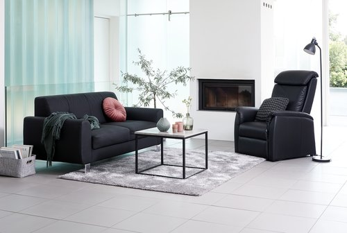 3-θέσιος καναπές DAMHALE μαύρο