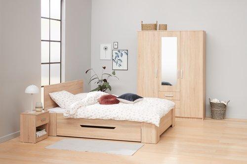 Noční stolek KABDRUP 1 zásuvka dub