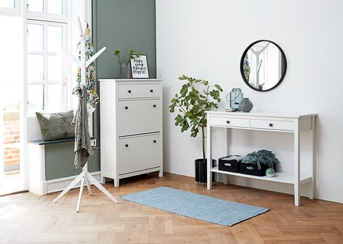 Console table NORDBY 40x110 white