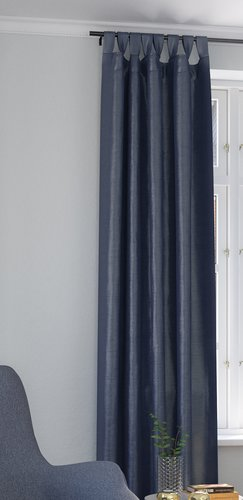 Завеса LUPIN 1x140x300 коприн.вид синя