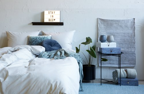 Duvet cover SUS Yarn dyed DBL white/grey