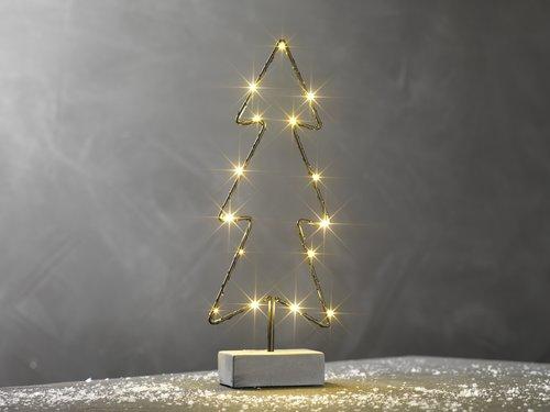 Kerstboom GALAR H33cm m/15LED