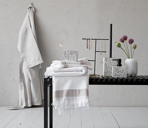 Badekåpe BJURHOLM L/X lys grå KRONBORG
