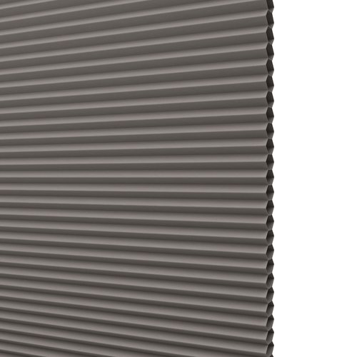 Plisségardin FUR 90x210 lysdemp grå