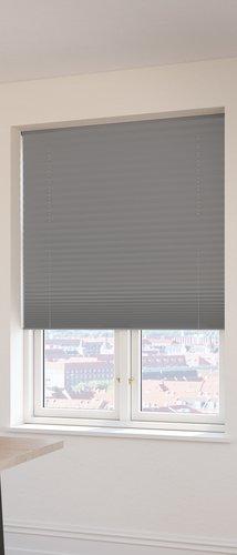 Plisségardin FYN 110x160 lysdemp grå