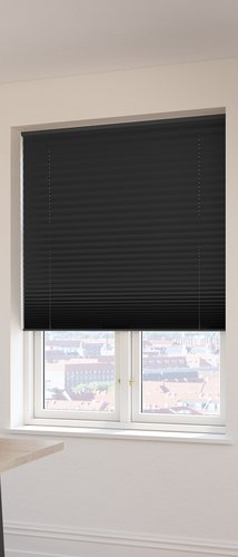 Plisségardin FYN 80x160 lysdemp svart