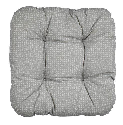 Coussin de chaise HASSELURT 40x40x8 gris