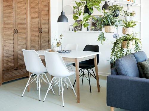 Spisebordsstol KLARUP hvid/hvid