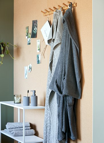Bathrobe TIMMERDALA L/XL dark grey