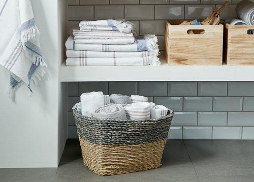 Πετσέτα μπάνιου KARLSTAD ανοιχτό γκρι