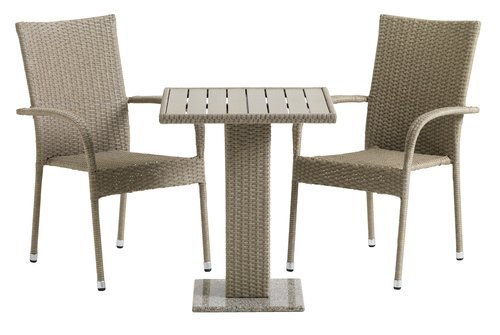 Bistro table THY W60xL60 nature