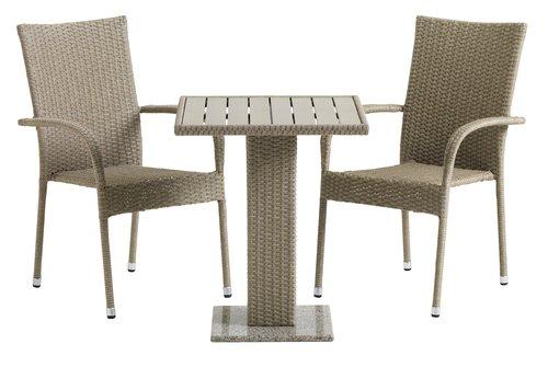 Bistro miza THY Š60xD60 naravna