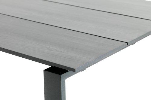 KOPERVIK Д215 см сива + 4 SANDVED черни