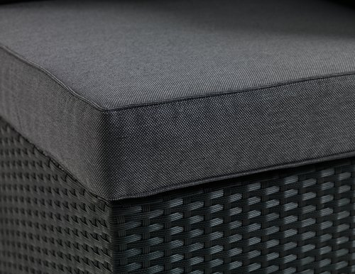 Loungeset BASTRUP hoekmodule zwart