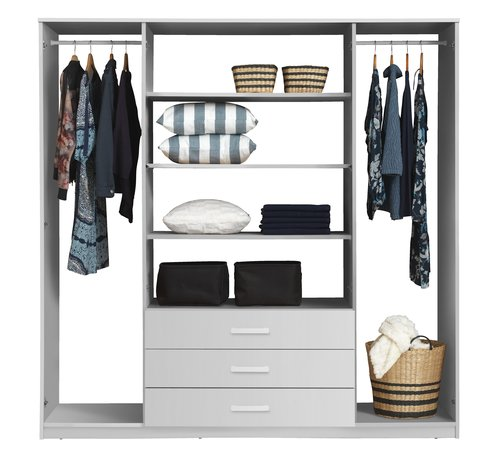 Wardrobe VINDERUP 200x201 cm white