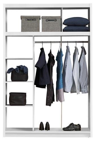 Wardrobe GENTOFTE 144x220 cm white