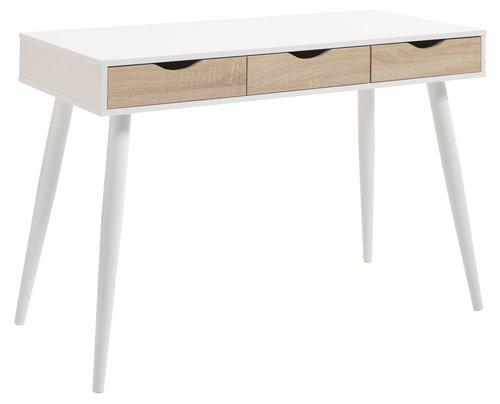 Písací stôl PLOVSVAD 50x110 dub/biela