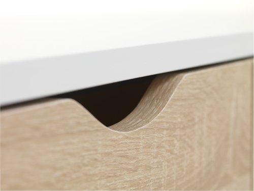 Biurko PLOVSVAD 50x110 dąb/biały