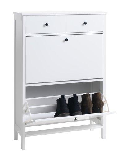 Шкаф за обувки TERPET 2 отделения бял